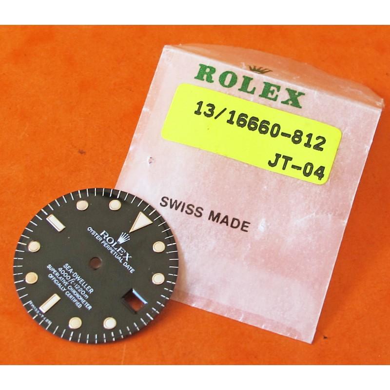 VINTAGE CADRAN 16660 ROLEX SEADWELLER TRIPLE SIX TRITIUM RAIL DIAL