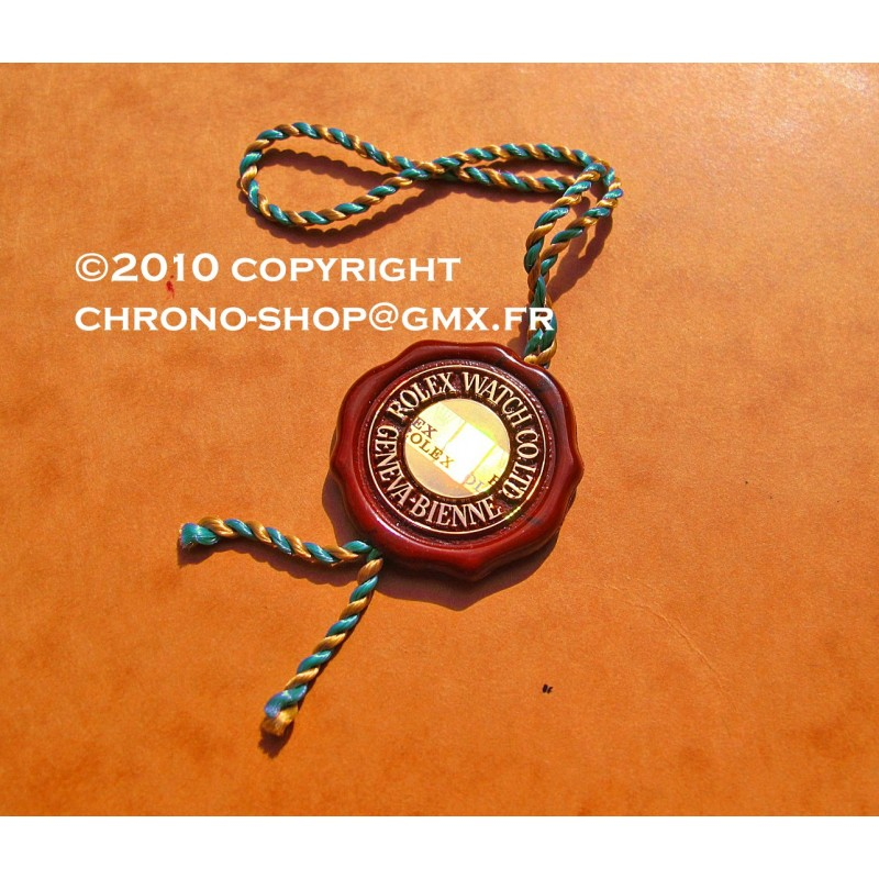 "Chronometer Red Hang Seal Tag  ""CERTIFIED OFFICIAL CHRONOMETER"""
