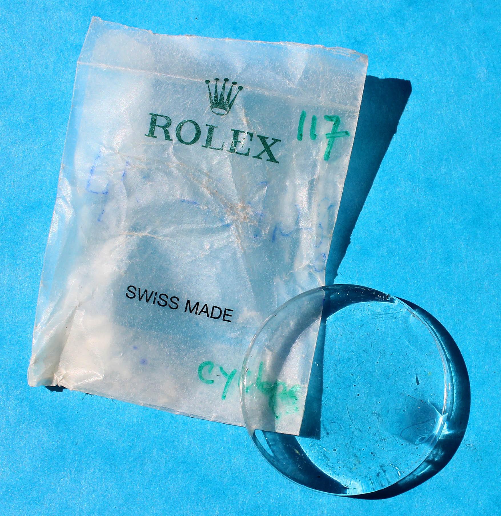 ROLEX CYCLOPE 117 PLEXIGLAS VERRE ACRYLIQUE MONTRES 1500-1514, 1550, 1625, 5700, 5701, 6535, 6537, 6602, 6609, 6646