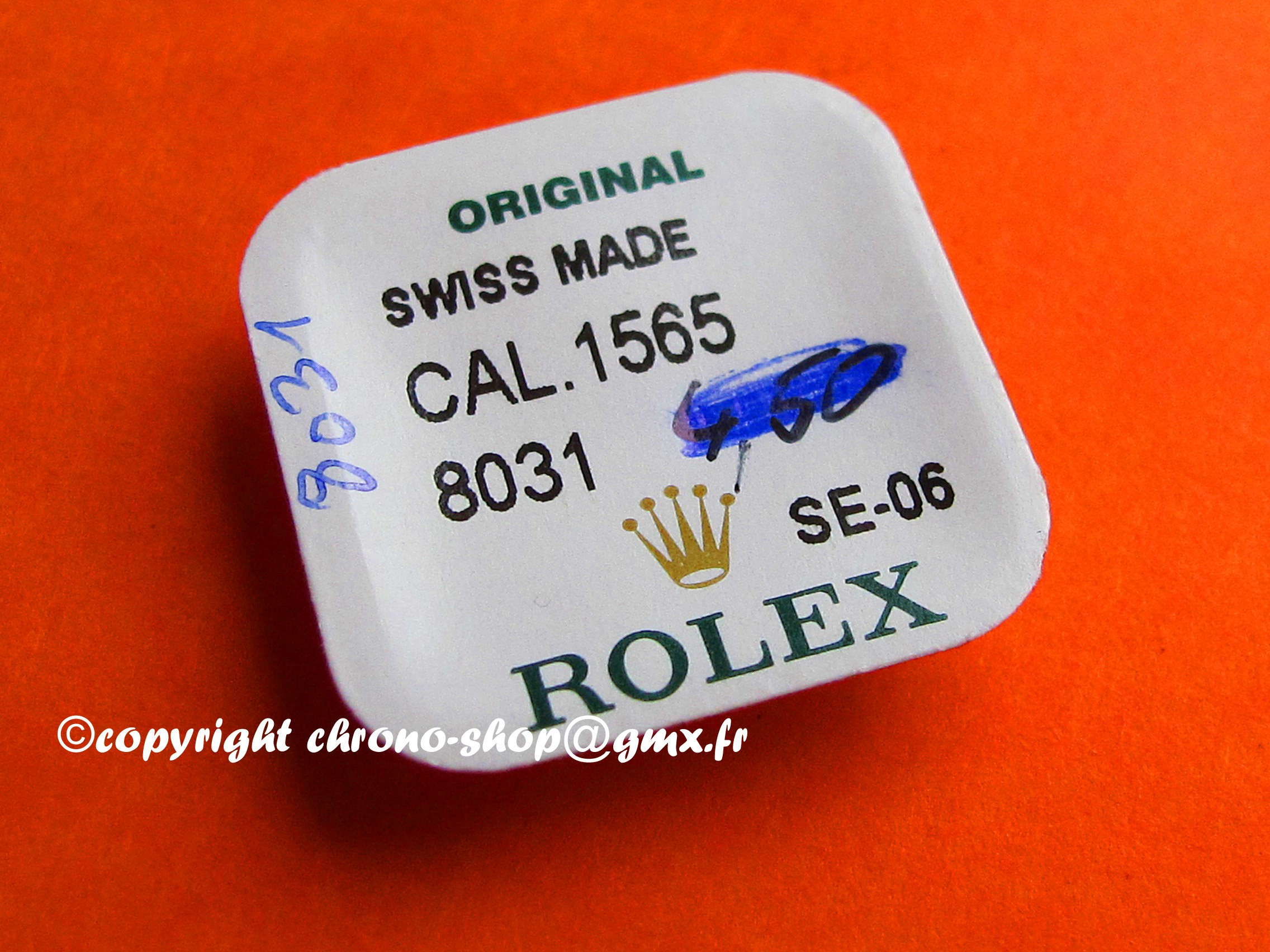 ROLEX CALIBER 1565  PAR ref--8031--