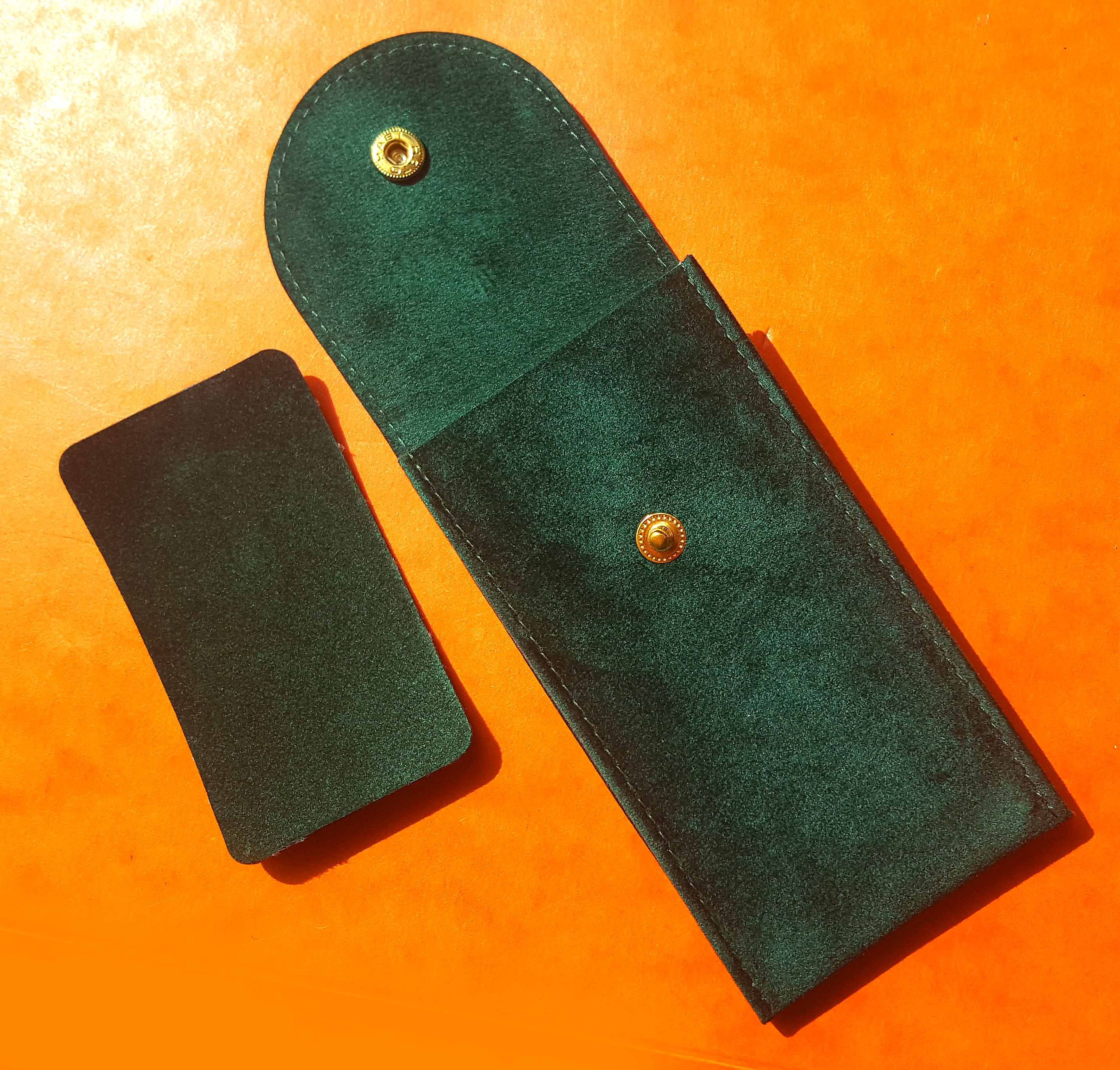 Details about  /ROLEX Service Travel Pouch Green Suede Free Shipping Dealer Pouch Submariner