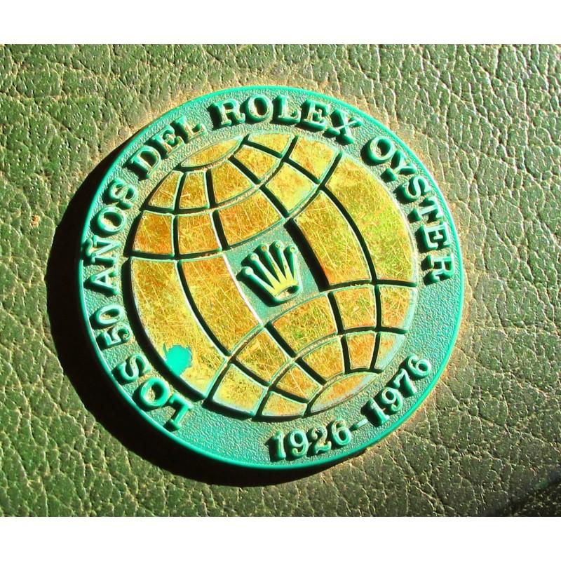 """Rare Anniversary 1926-1976 """"50 anos"""" Vintage Rolex Collectible Watch Box Storage11.00.2 Submariner- Nice Set"""