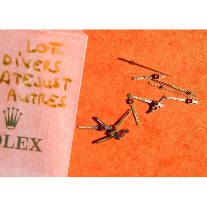 Rolex Lot Aiguilles à restaurer Tritium montres Oyster Perpetual & Datejust 1601, 1600, 1603 & 1500, 1501, 1565 cal 1570, 1560