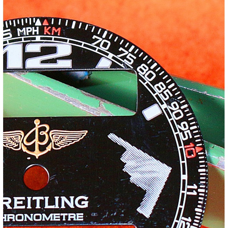 Breitling authentique Cadran Noir Navitimer 50th Anniversaire ref A41322 Cal Valjoux