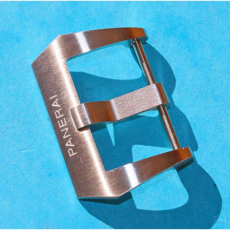 PANERAI Rare boucle ardillon acier bracelet cuir montres Luminor, Marina, Radiomir, Submersible 47mm ref PAV00627