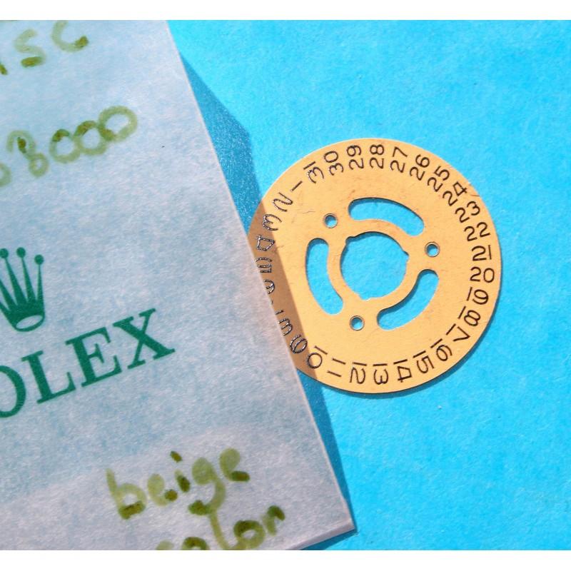 Rolex Rare Disque de date, indicateur de quantième champagne Ø21.50mm ref 4521-1 Cal 2030, 2035 Datejust Medium 6800