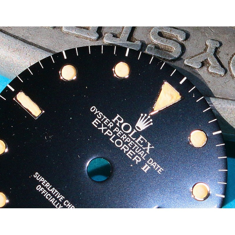 ROLEX VINTAGE CADRAN NOIR TRITIUM ORIGINAL MONTRES EXPLORER II 2 DATE 16550, 16570 CAL 3085, 3185
