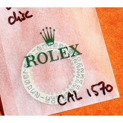 ROLEX VINTAGE DISQUE DATEUR ARGENT MONTRES 1680, 1665, 1675, 1655, cal 1570 SEA-DWELLER GMT MASTER EXPLORER II SUBMARINER DATE