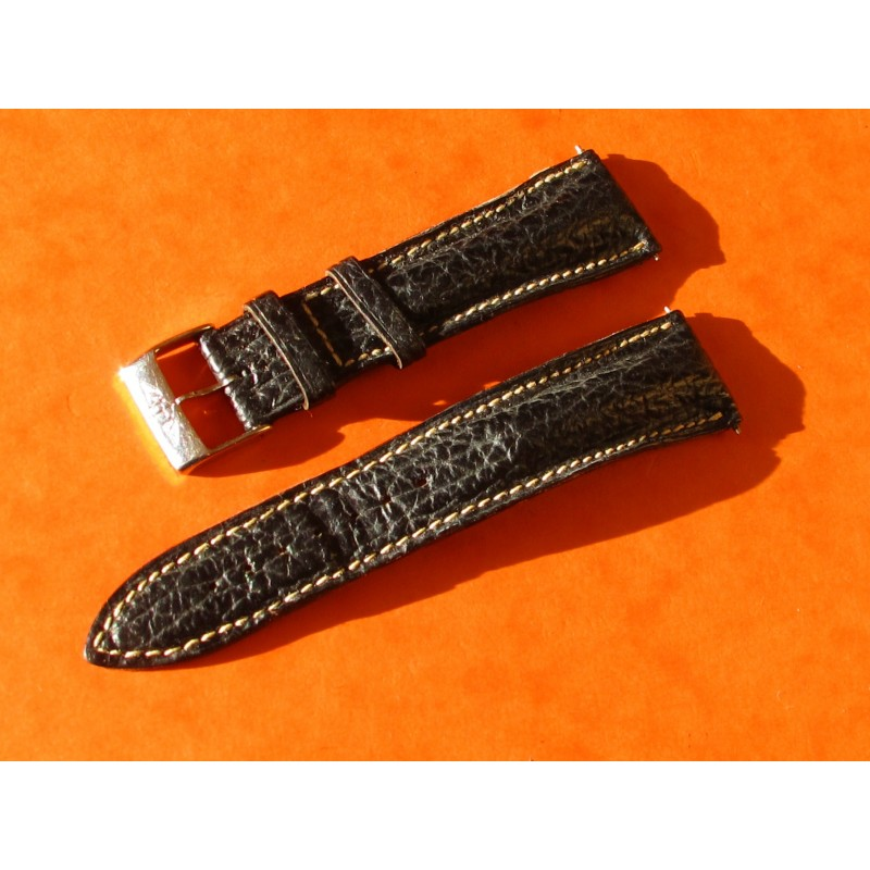 VINTAGE LEATHER BREITLING BRACELET 20mm
