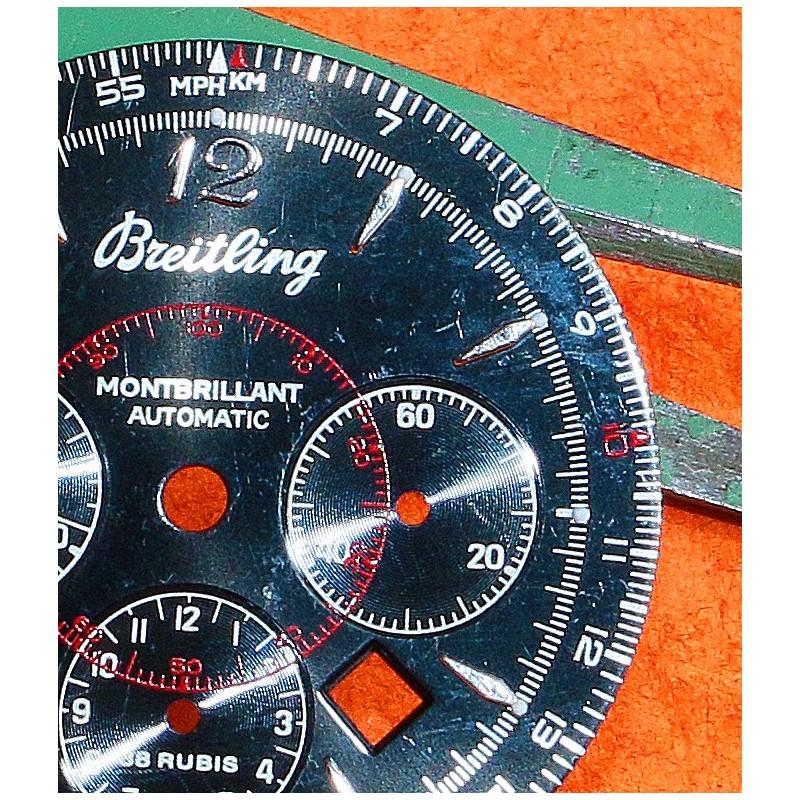 BREITLING CADRAN MONTRE MONTBRILLANT CHRONOMETRE AUTOMATIQUE COULEUR NOIR & ROUGE