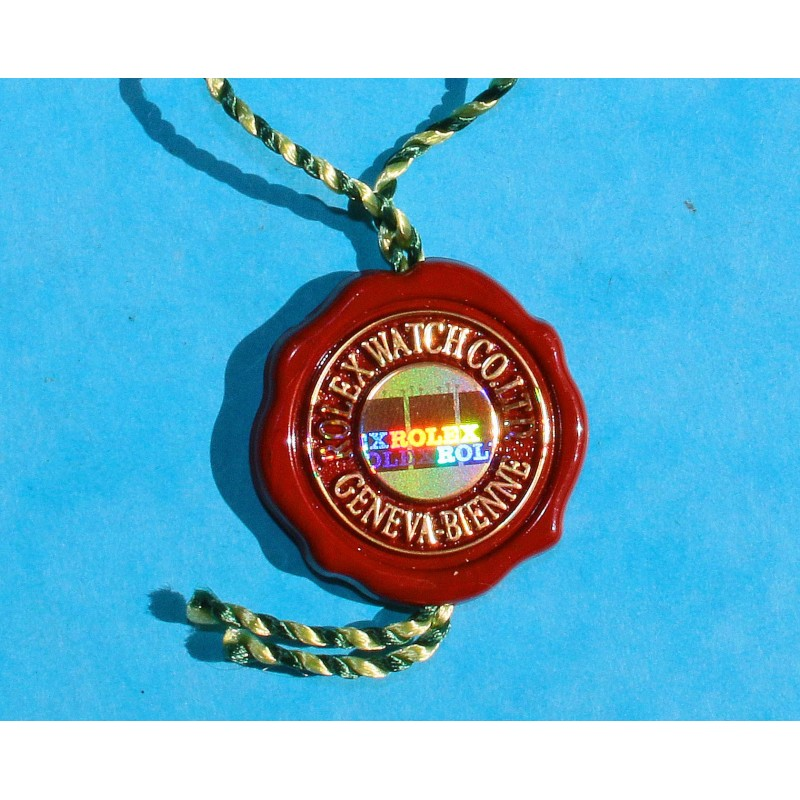 Rolex Rare Chronometer Red Hang Seal Tag CERTIFIED OFFICIAL CHRONOMETER Goodies, watch accessories collectibles