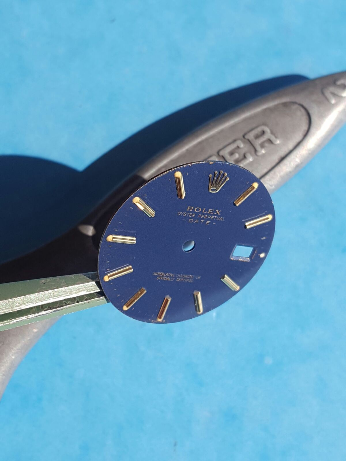 VINTAGE NIGHT BLUE DIAL ROLEX OYSTER PERPETUAL DATE