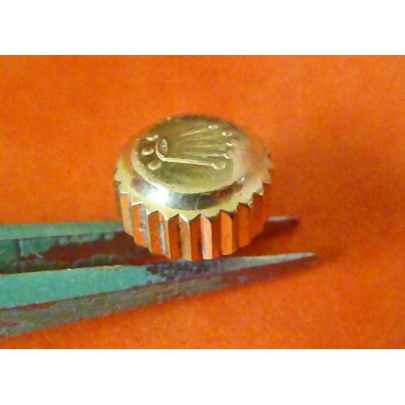 VINTAGE ROLEX original gold color crown triple lock703 Watch Crown Part Triplock 16613 16618 16808 16083