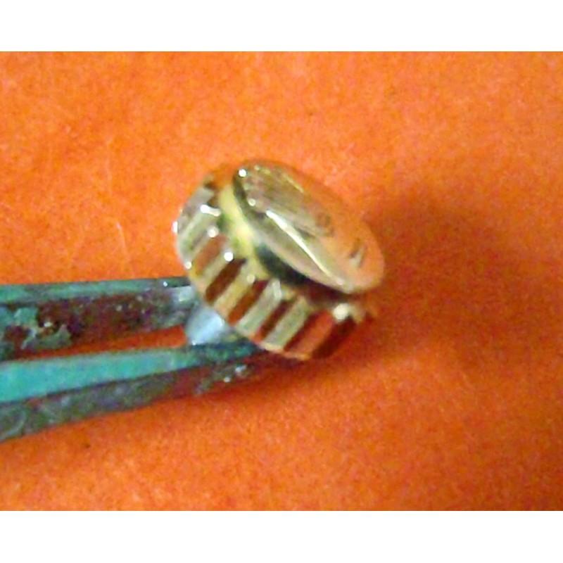 18K Rolex Genuine Twinlock Oyster Gold Screw Down Crown 5.94mm