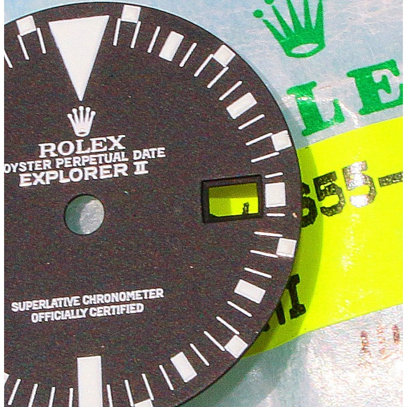 ♕ Rolex Collectible Panna Cotta 16550 Creamy Oyster Perpetual Date Explorer II watch dial cal 3085 ♕