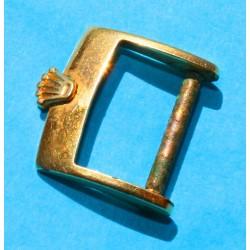 Original Rolex 14mm gold plated buckle Medium size strap leather bracelet