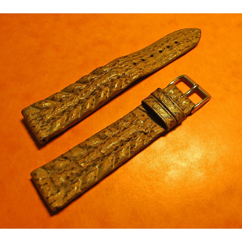LEATHER STRAP SKIN TIGER SHARK 19mm