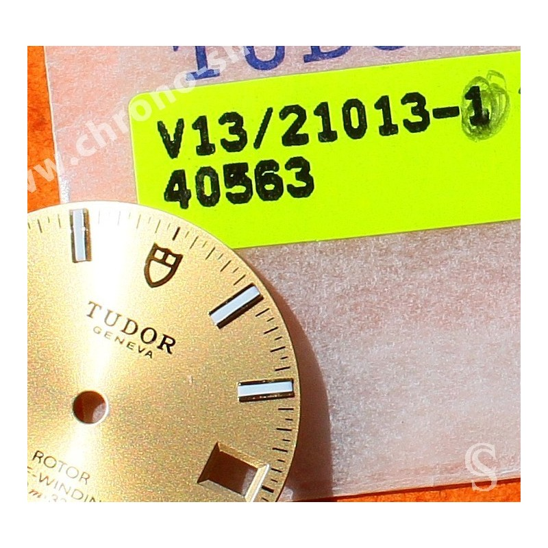 TUDOR horology Genuine & Rare Watch Black dial part CLASSIC DATE Rotor SELF-WINDING 100m Ref 21013
