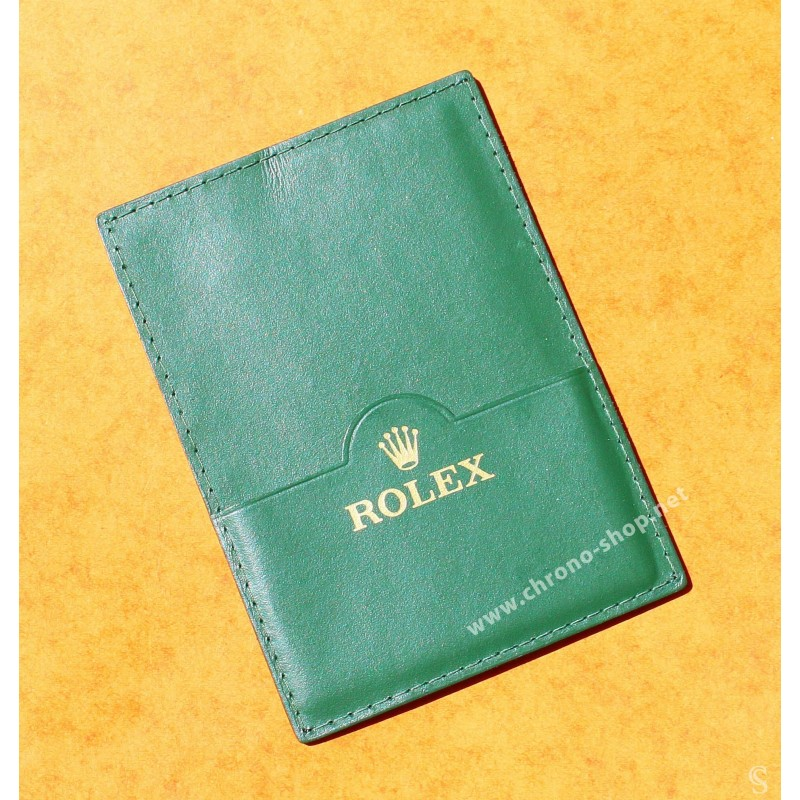 Exclusive & Collectible Rolex Fir Green Card Holder paper documents watches guarantee, 11.5 cm x 8cm, ref 4119209.05