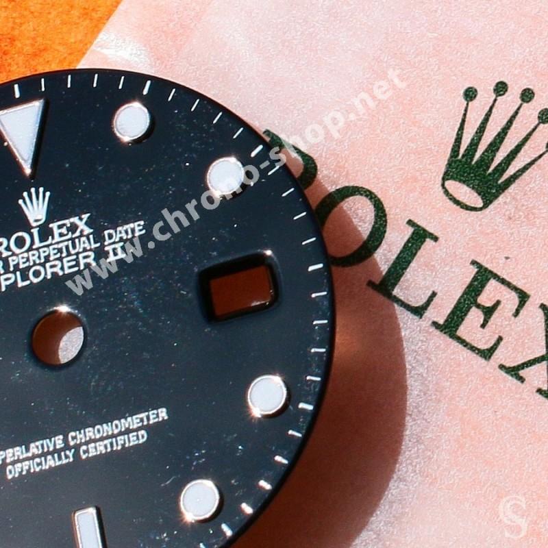 ROLEX AUTHENTIQUE CADRAN NOIR LUMINOVA MONTRES ROLEX OYSTER EXPLORER II 16570, 16550 CAL 3185, 3186 OCCASION