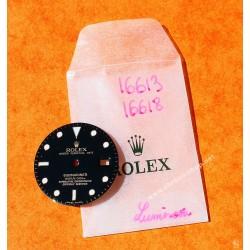 Rolex preowned Original Mens 18K/SS Submariner date glossy black Luminova Dial 16618, 16613, 16808, 16083 tutone & Gold