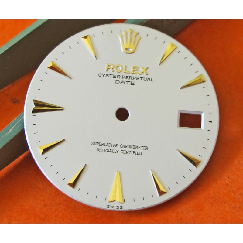 ROLEX OYSTER PERPETUAL DATE -BEYELER- DIAL VINTAGE S/GOLD WHITE DIAL CIRCA circa 1950