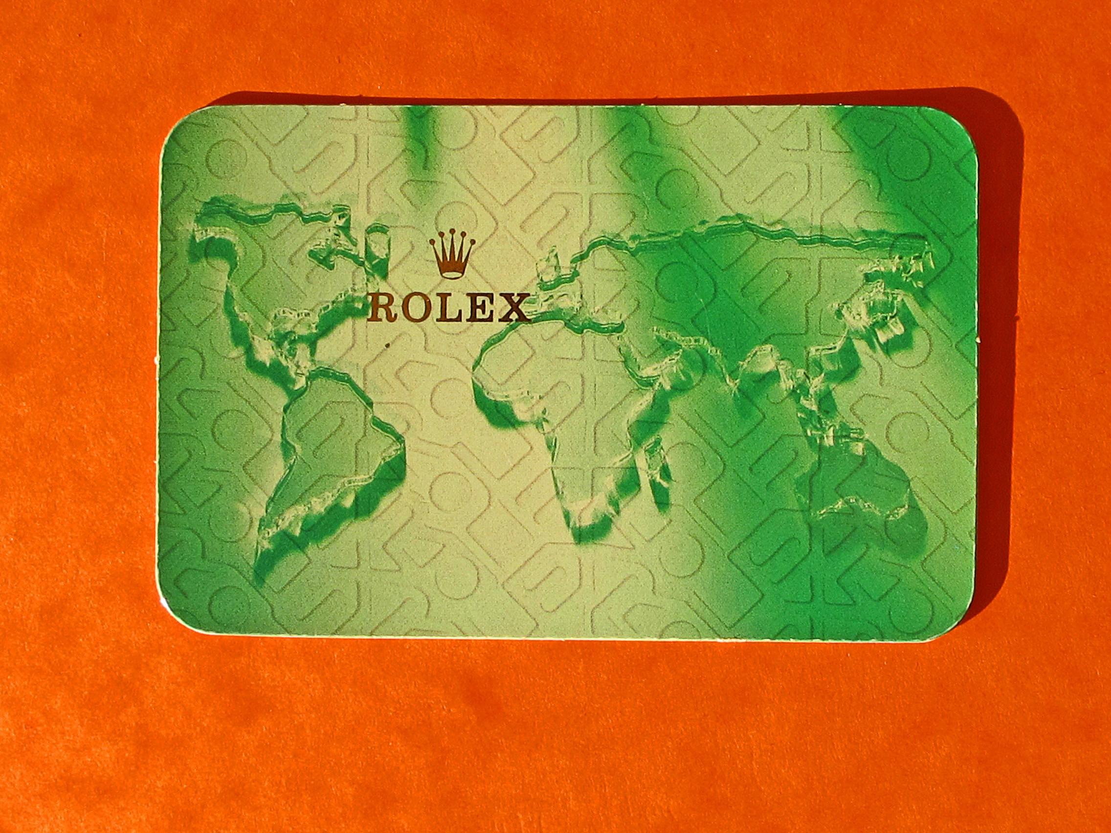 CALENDRIER ROLEX 2001-2002