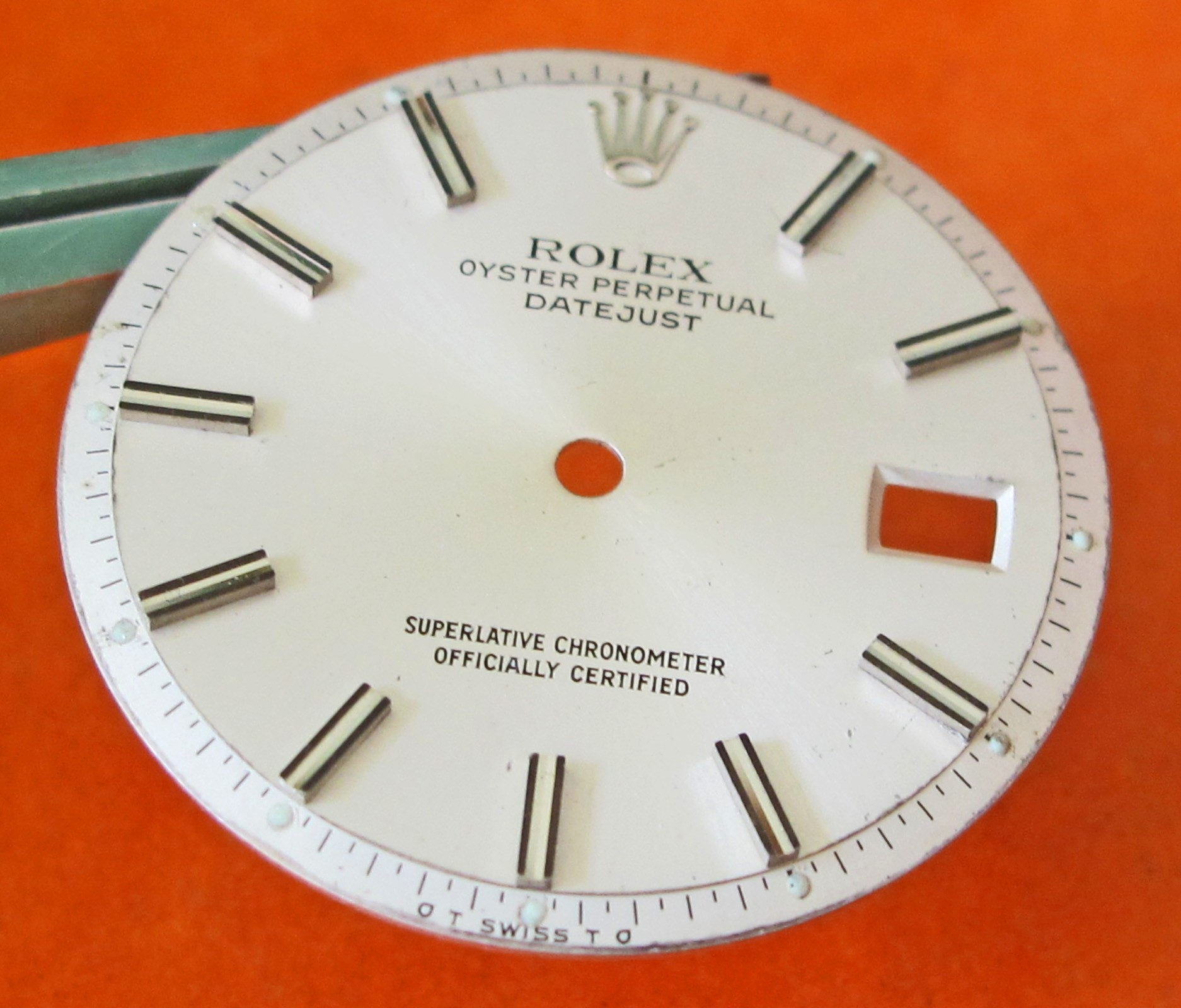 Original Men's Rolex Oyster Perpetual DateJust Silver Dial Incurved