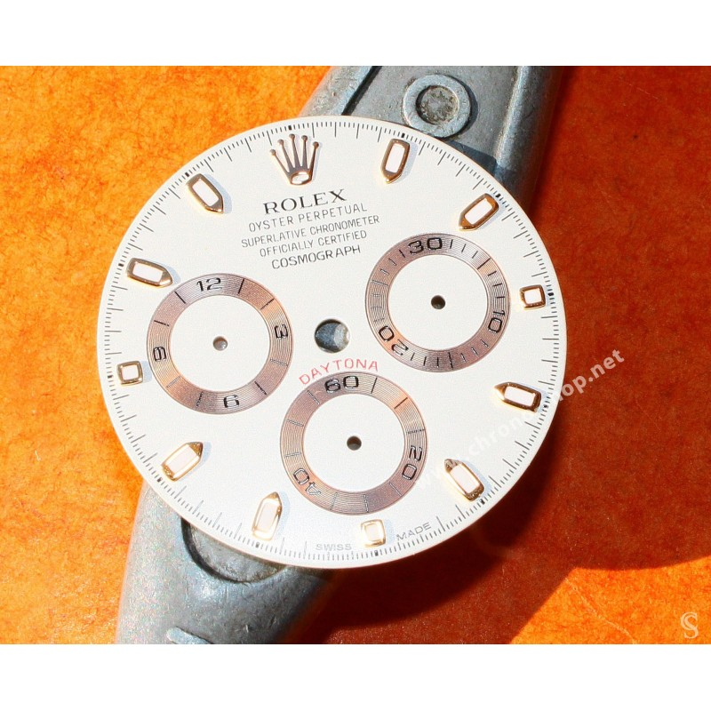 Rolex Authentique Cadran Blanc & or Rose Montres Rolex Cosmograph Daytona ref 116505