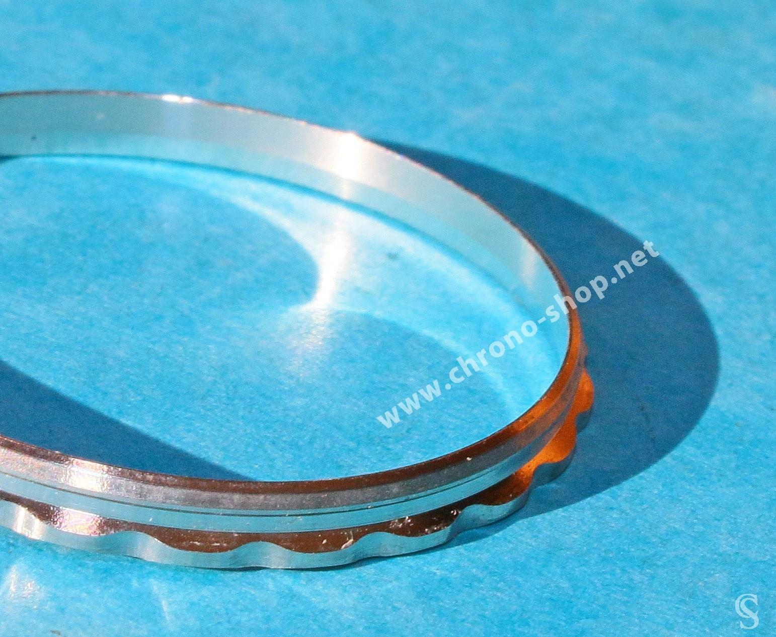 Rolex Rare anneau acier de verre, bague de verre montres GMT MASTER 116710
