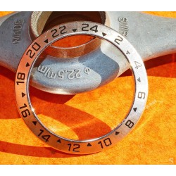 ROLEX LUNETTE Ø39mm 24H GMT ACIER GRADUEE DE MONTRES SPORTS OYSTER EXPLORER II 16570, 16550 VINTAGE