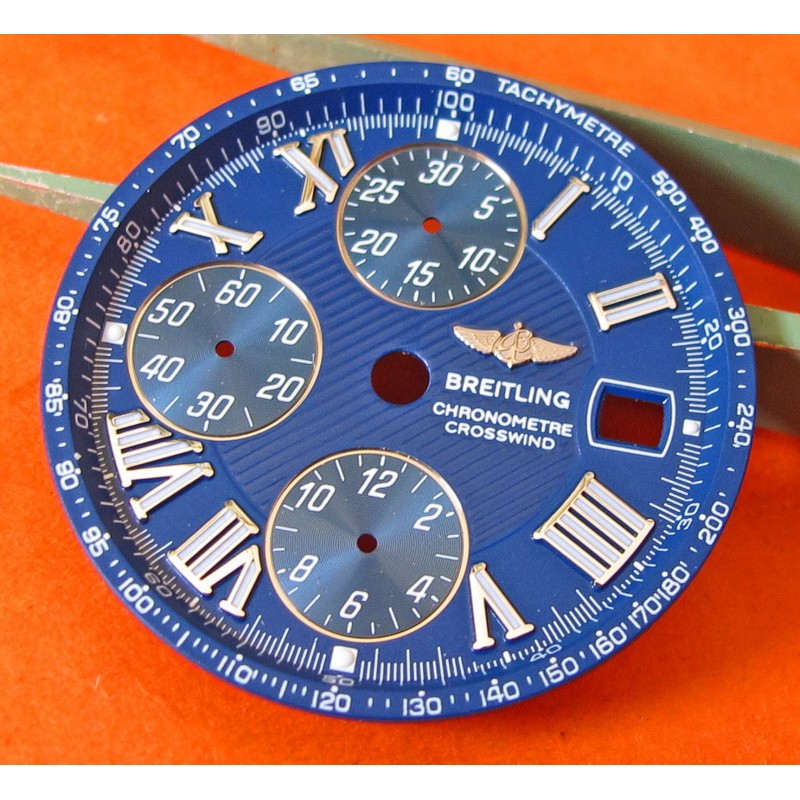 BREITLING ORIGINAL CROSSWIND ROMANS NUMERALS BLUE & SILVER DIAL PART