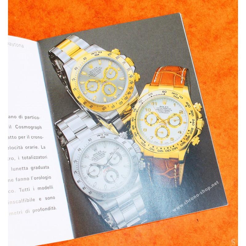 Rolex 2007 Cosmograph Daytona watch Italian booklet, manual 116509, 116515, 116518, 116519, 116520, 116523, 116528, 116568