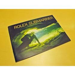 1991 LIVRET ROLEX SUBMARINER 16600-14060...