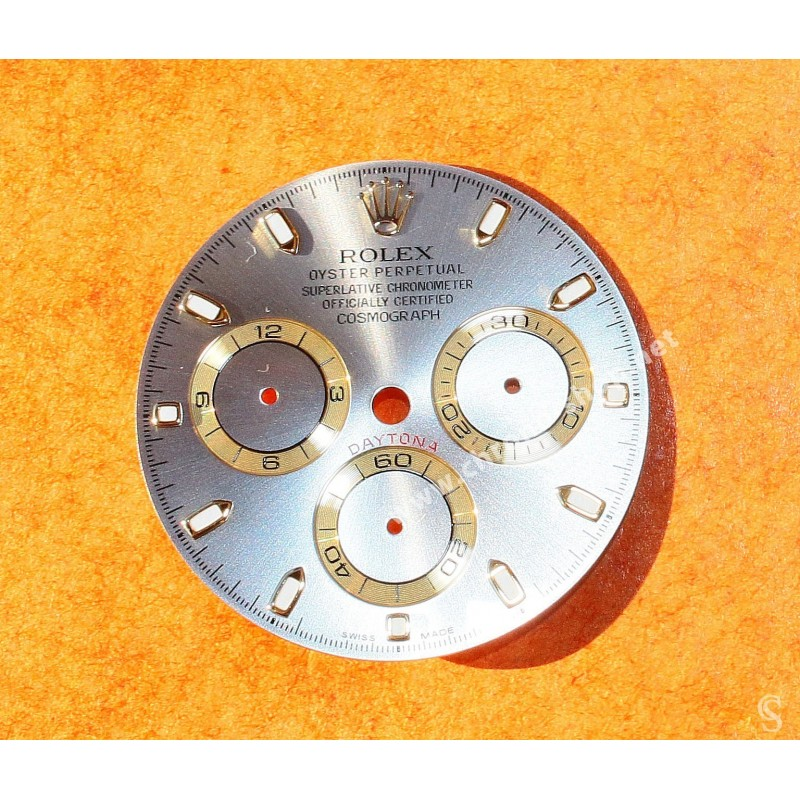 ☆☆Elegant Original Rolex 116528, 116523, 116520 Mens Silver Slate & gold Dial Daytona Cosmograph watch cal 4130☆☆