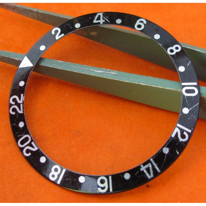 Rolex GMT Master 2 16700 16760 16710 Black Bezel Insert