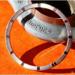 Rolex original & Rare SSteel Engine Turned Watch Bezel Airking, Oysterdate 14010, 1500,15000,15200 Ø34mm