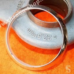 ROLEX LUNETTE BOMBEE ACIER MONTRES OYSTER PERPETUAL DATE, AIRKING VERRE SAPHIR ref 15200, 15000, 115200,15210 Ø34mm