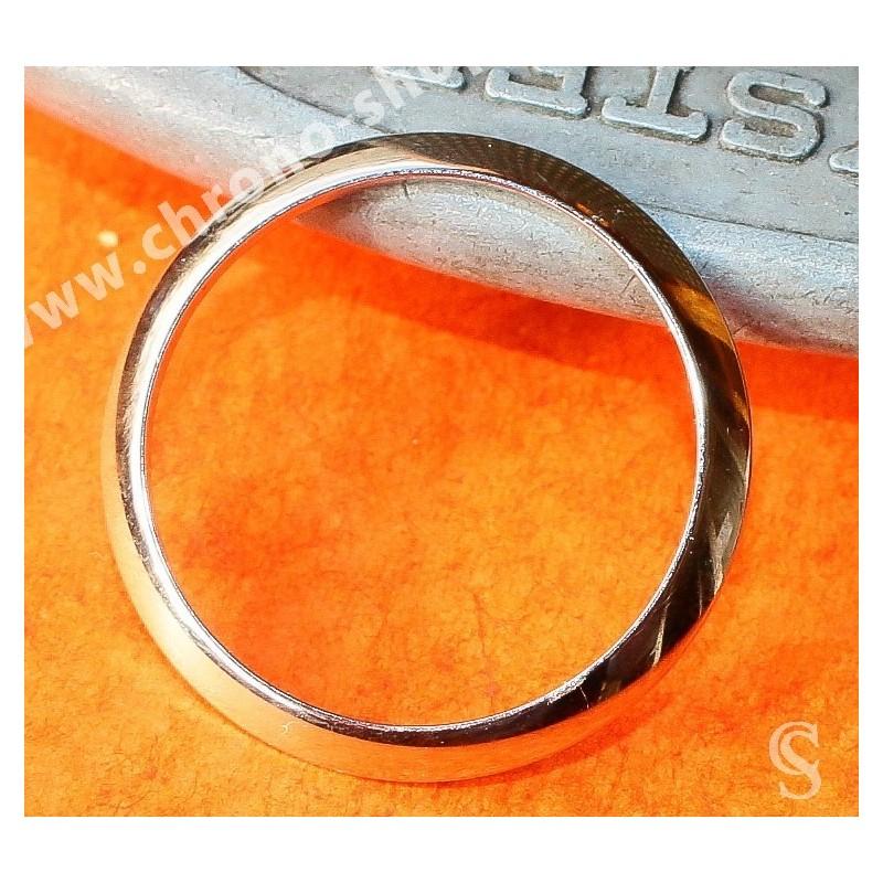 ROLEX Authentique Lunette fixe acier 25mm dome montres Dames Datejust, Oyster Perpetual 6916, 69000, 69170, 69173