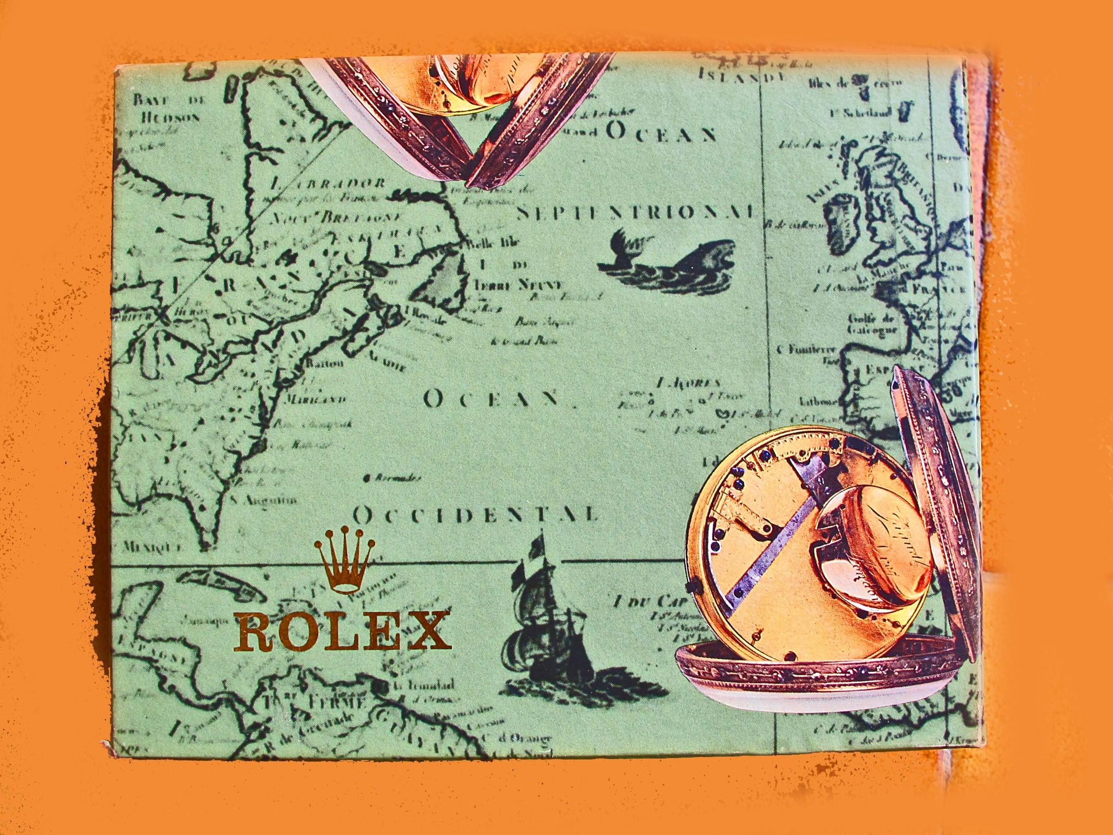 BOITE VINTAGE ROLEX MAPPEMONDE ANNEES 80