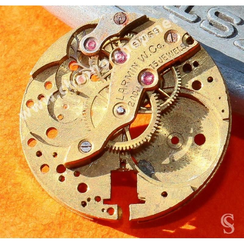 LARMIN W.Co Swiss 15 jewels vintages 50-60's Watch caliber, mechanical movement watch spares, part for sale