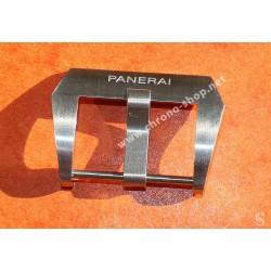 Panerai Watch leather strap part Ssteel OEM Buckle Tan watch Luminor, Marina, Radiomir, Submersible 47mm ref PAV00627