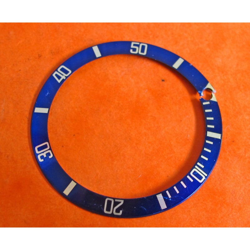 Vintage Rolex Insert 16613 16803 gold & blue for Submariner part 315-16808-182 for repair