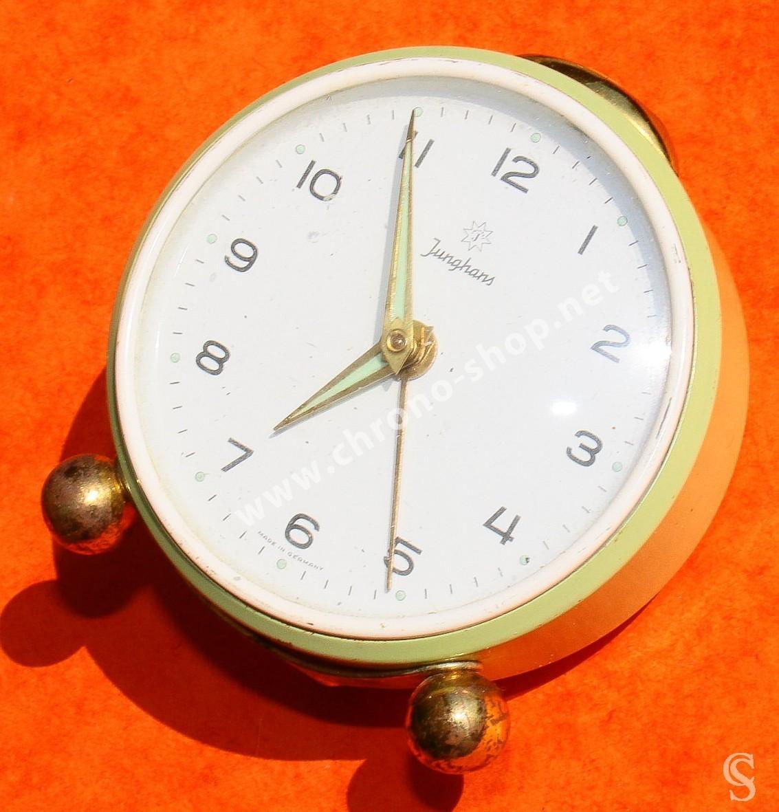 JUNGHANS Germany Alarm Clock Vintage Mantel Shelf Metal ...