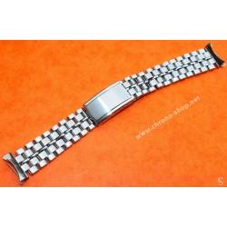 Bracelet BALDWIN 18mm Vintage de Montres en acier années 60-70 Mesh, milanais Breitling, Omega, heuer, Tissot, IWC, Jaeger