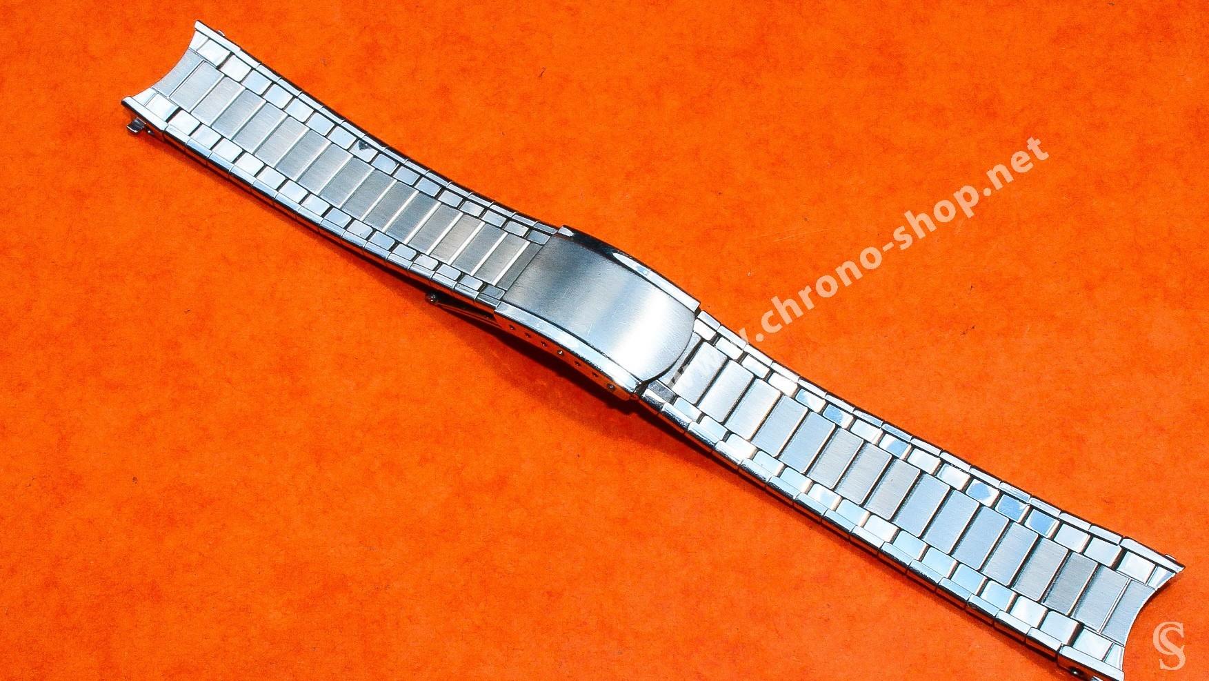Bracelet EXPANDRO 18mm Vintage de Montres en acier années 60-70 Mesh, milanais Breitling, Omega, heuer, Tissot, IWC, Jaeger