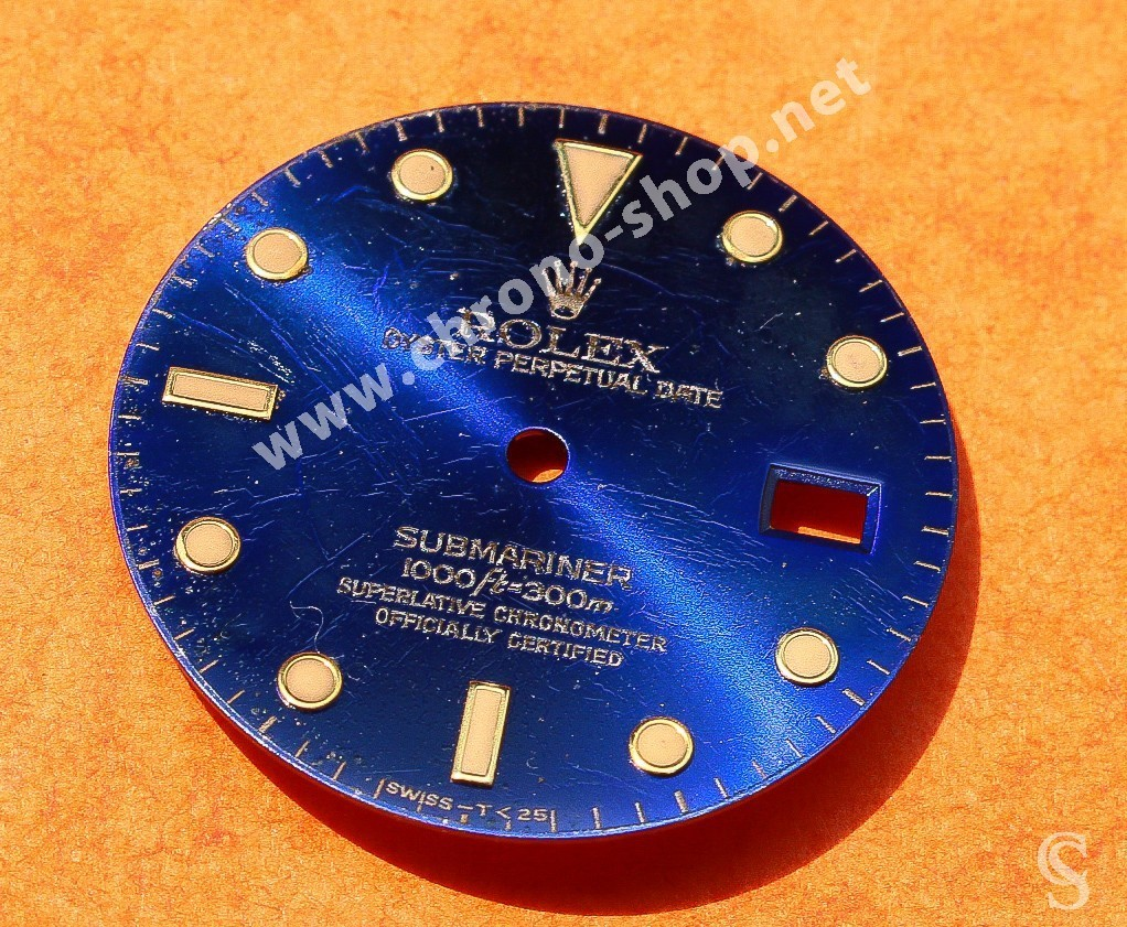ROLEX RARE SINGER SUBMARINER DATE WATCH DIAL PART BLUE REFLECTS DIAL 16613, 16618, 16803, 16808 CAL.3035, 3135