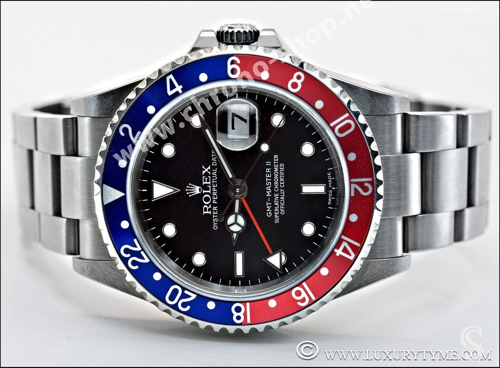 Rolex 90's Patined & Faded Oyster Perpetual Date GMT Master II 16760, 16710 Watch dial Tritium Creamy markers T25