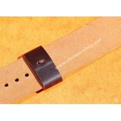 Bracelet Nato Cuir Cordovan Brun Style Vintage 20mm Montres Anciennes Rolex, Tudor, IWC, Breitling, Omega