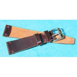 ★☆Handcrafted Genuine Cow boy watches strap Horween Shell Cordovan Leather Watch Band Bracelet Coffee color 20mm★☆